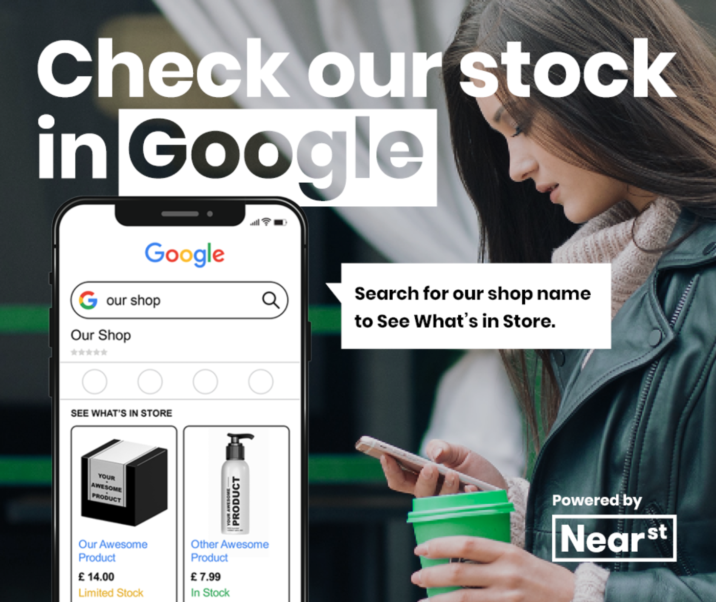 How you can check local shop stock in google